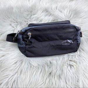 NEW L.L.Bean Travel Toiletry Bag Nylon Black Gray